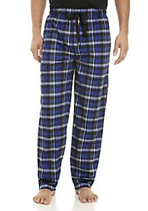 Black and Blue Window Pane  Pajama Pants