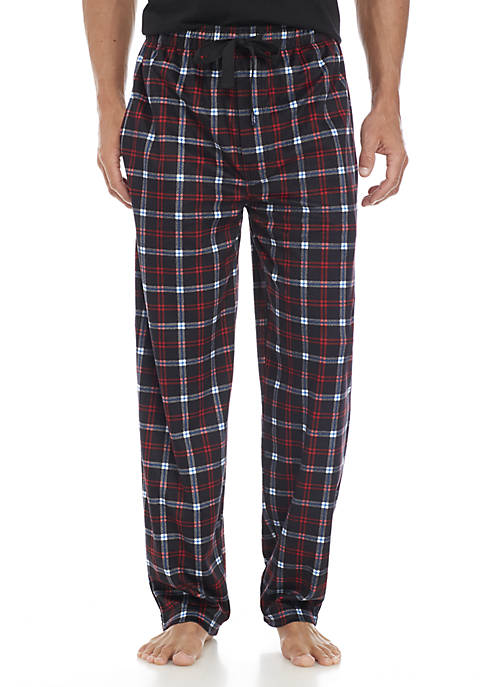 IZOD Silky Fleece Red, Black, and Blue Plaid