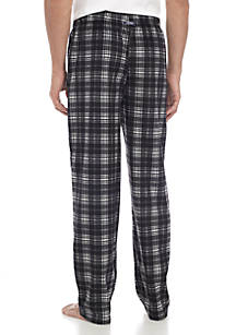 065786e377 IZOD Big   Tall Silky Fleece Black Grey White Plaid Sleep Pants