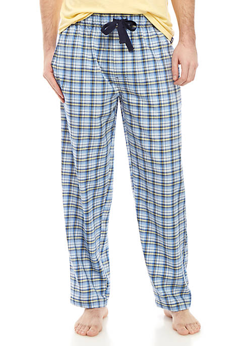Blue and Yellow Plaid Lounge Pants