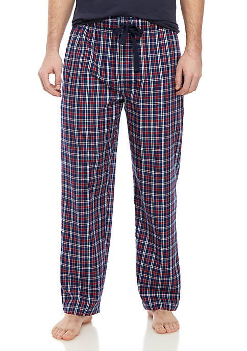 Red and Navy Plaid Lounge Pants