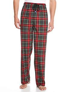Big & Tall Black/Red Silky Fleece Pants