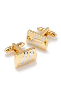 Saddlebred® 2-Tone Stripe Cuff Links