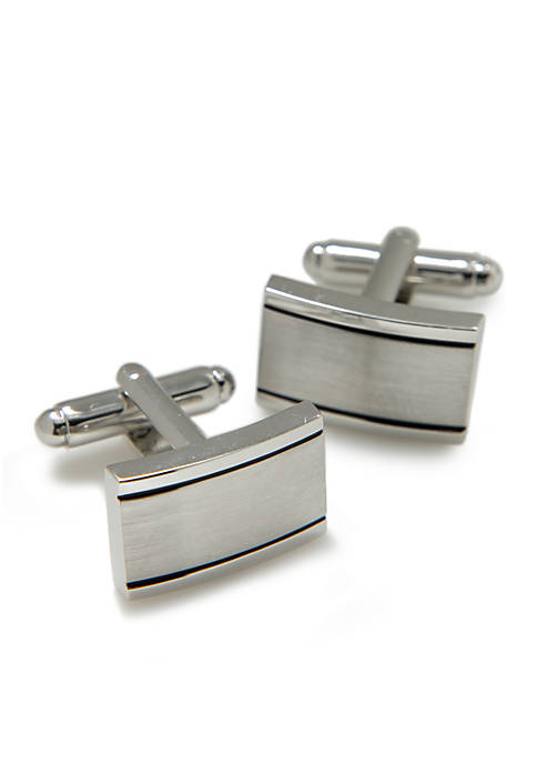 Brushed Rectangle Cuff Links