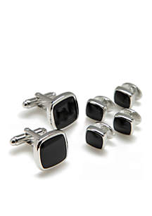 Rounded Edge Cuff Link Dress Set
