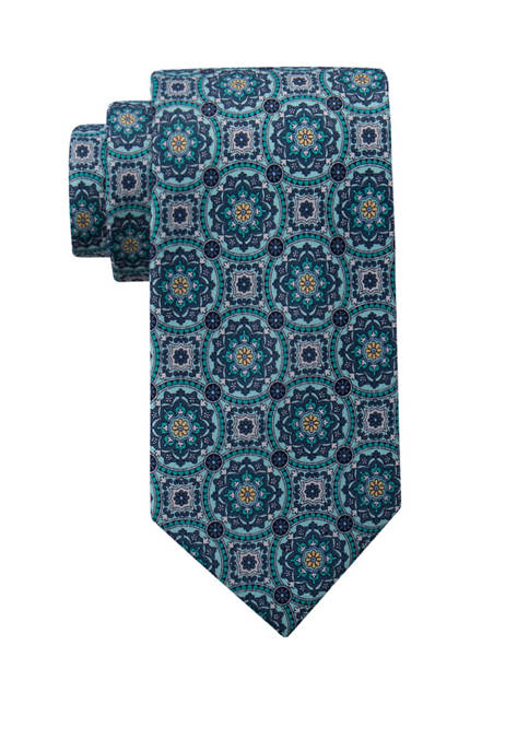 Saddlebred® Saturday Printed Medallion Necktie