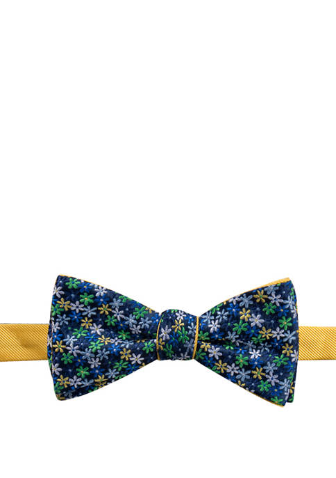 Saddlebred® Mens Floral Printed Bow Tie
