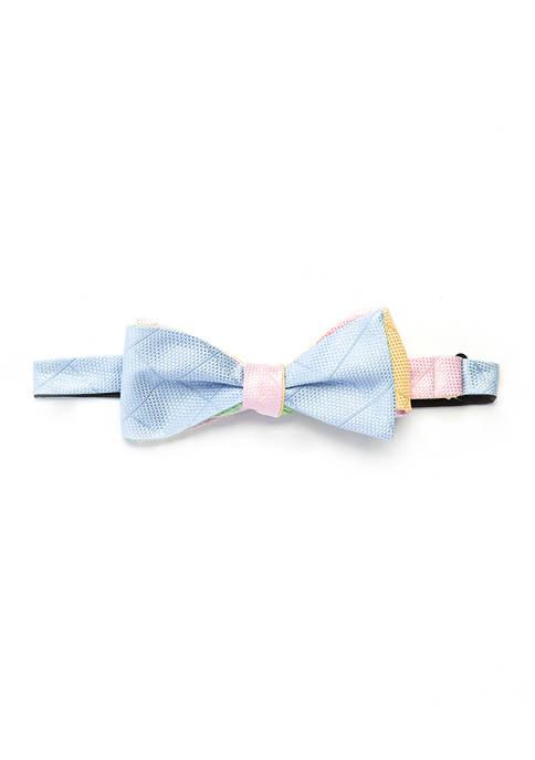 Crown & Ivy™ Pastel Grid Quad Bow Tie