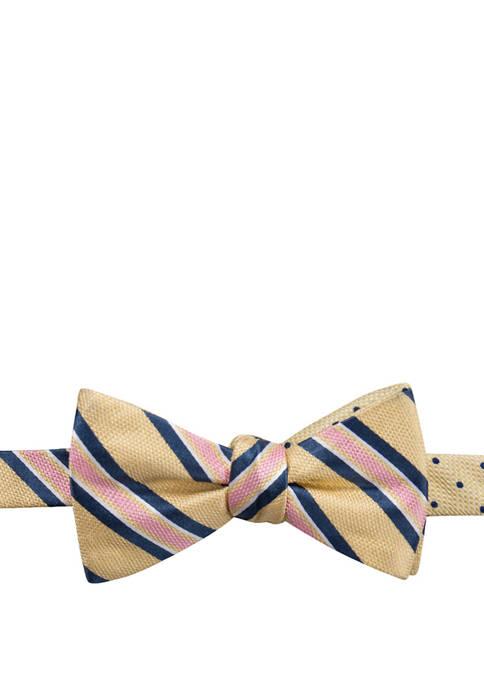 Saddlebred® Jacoby Stripe Dot Reversible Bow Tie
