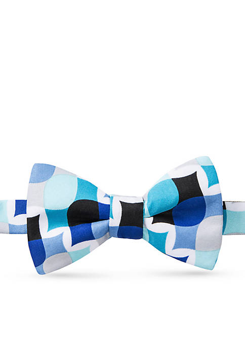 Saddlebred® Happy Eel Abstract Bow Tie