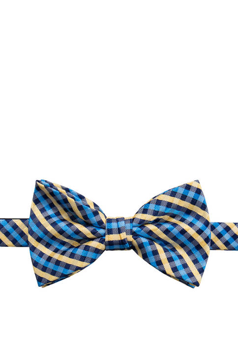 Crown & Ivy™ Mens Mini Gingham Bow Tie