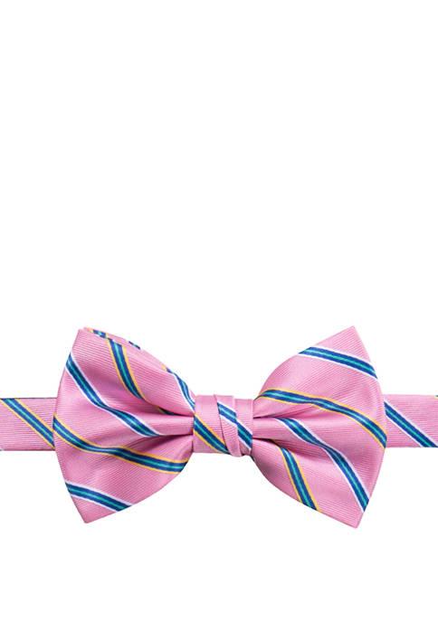 Saddlebred® Mens Multi Stripe Bow Tie