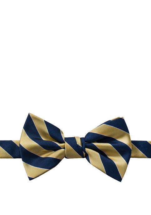 Skylar Stripe Pre Tied Bow Tie