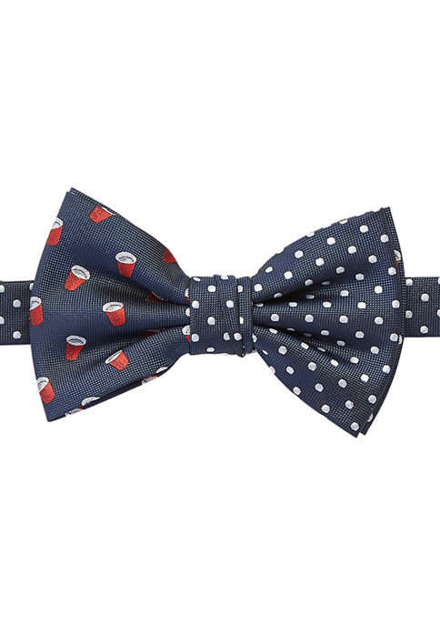 Red Cup Dot Bow Tie