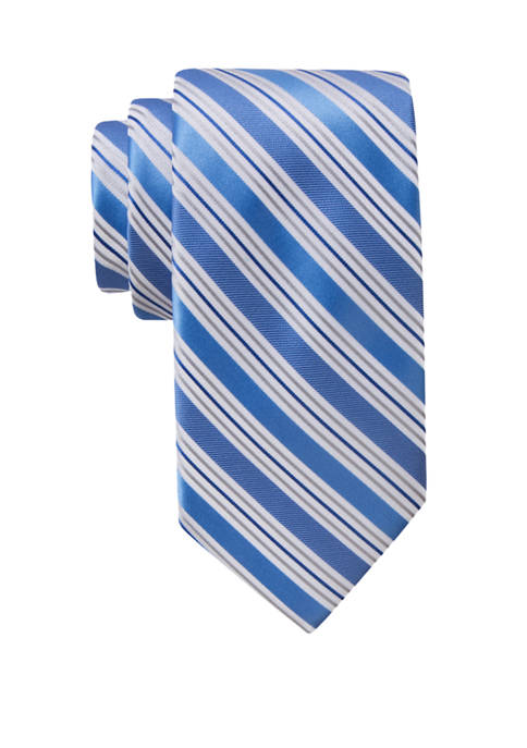 Saddlebred® Mens Stripe Extra Long Necktie