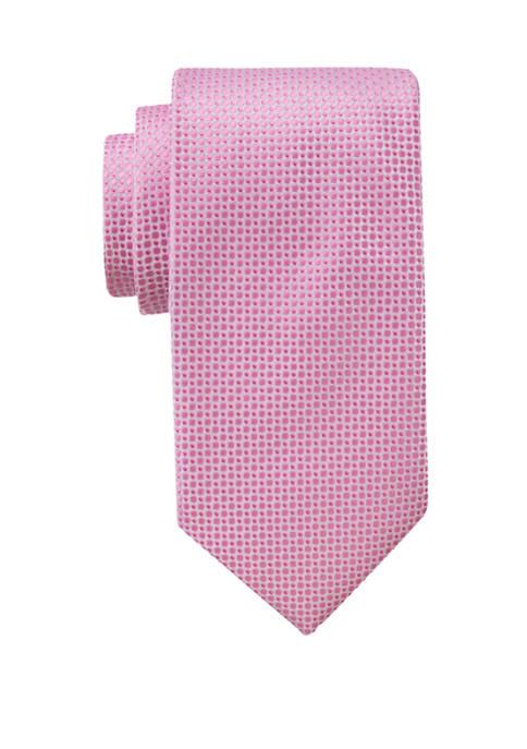 Saddlebred® Mens Dot Textured Extra Long Necktie