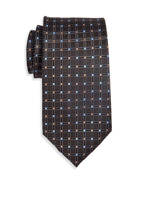 Extra Long Neat Grid Tie