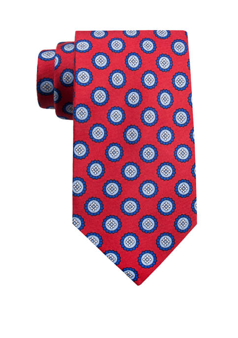 Crown & Ivy™ Jex Printed Medallion Tie