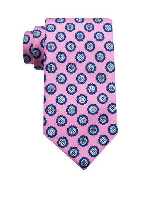 Crown & Ivy™ Jex Printed Medallion Tie