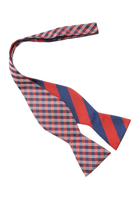 Reversible Gingham Stripe Bow Tie
