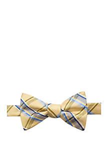Farmstead Plaid Print Bow Tie