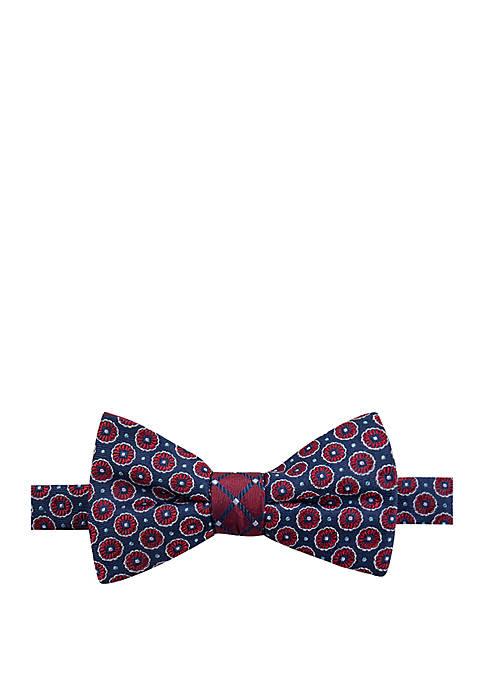 Saddlebred® Fortune Grid Medallion Bow Tie