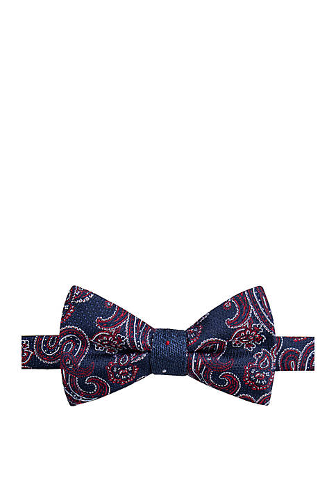 Porter Paisley Contrast Bow Tie