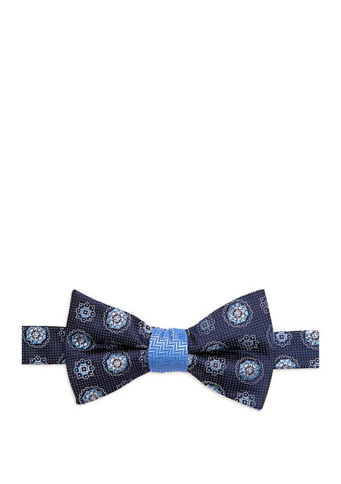 Extra Long Barre Medallion Print Bow Tie