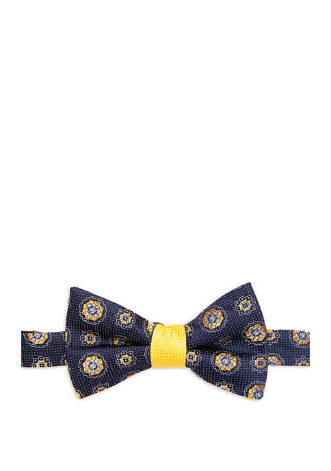Saddlebred® Extra Long Barre Medallion Print Bow Tie