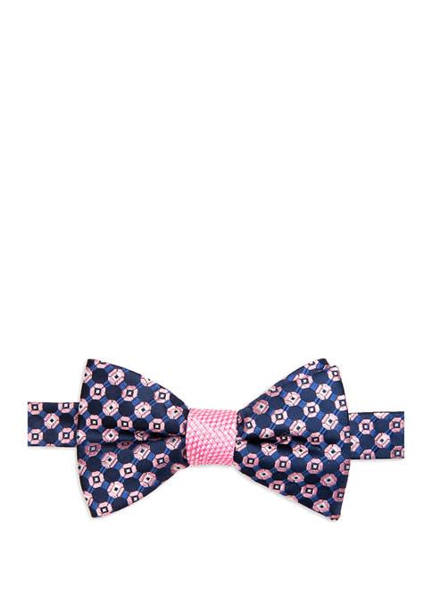 Saddlebred® Glendive Medallion Contrast Bow Tie