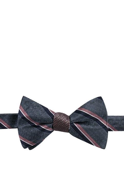 Saddlebred® Baton Stripe Contrast Pattern Bow Tie