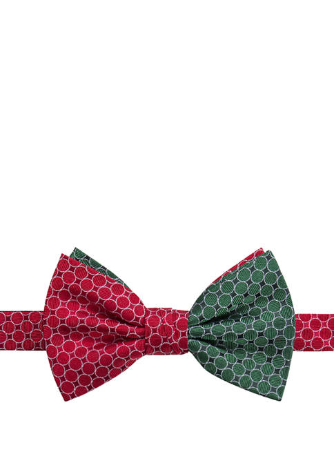 Saddlebred® Dot Half and Half Pattern Bow Tie