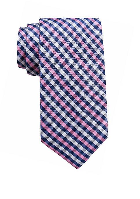 Big & Tall Hackney Gingham Extra Long Necktie