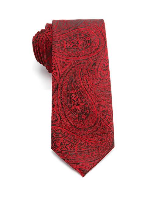 Saddlebred® Big & Tall Watts Paisley XL Tie