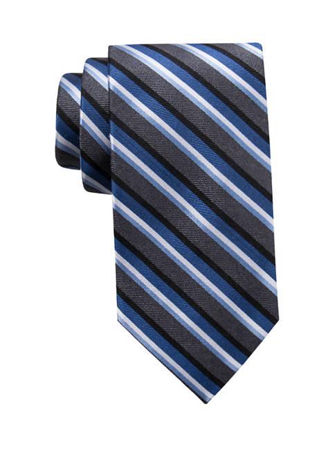 Saddlebred® Big & Tall Charcoal Stripe XL Tie