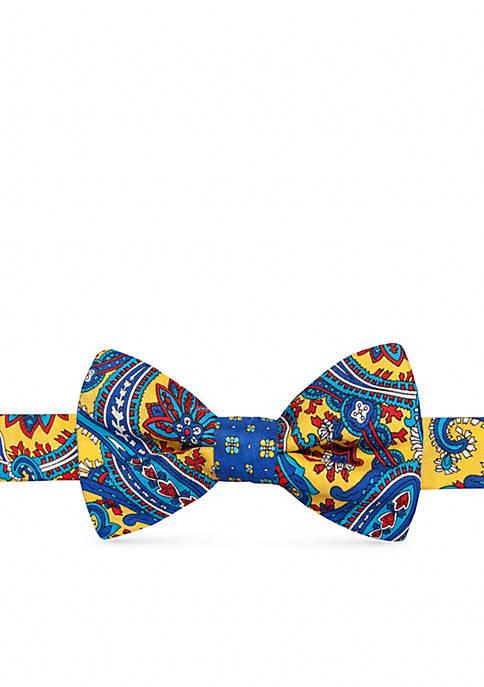 Pre-Tied Zander Paisley Neat Reversible Bow Tie