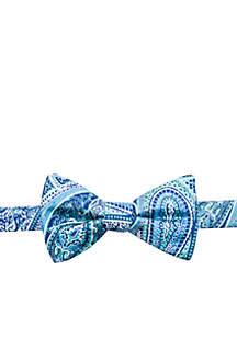 Saddlebred® Sea Sycamore Paisley Bow Tie