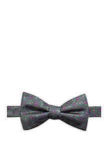 Basil Neat Print Bow Tie