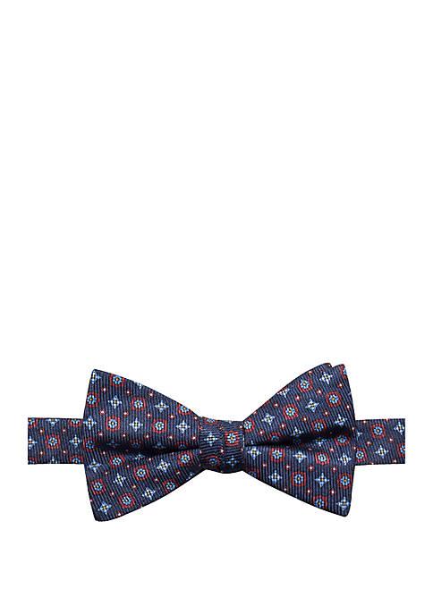 Saddlebred® Basil Neat Print Bow Tie