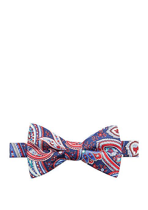 Fiorello Paisley Print Bow Tie