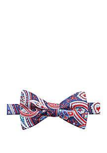 Saddlebred® Fiorello Paisley Print Bow Tie