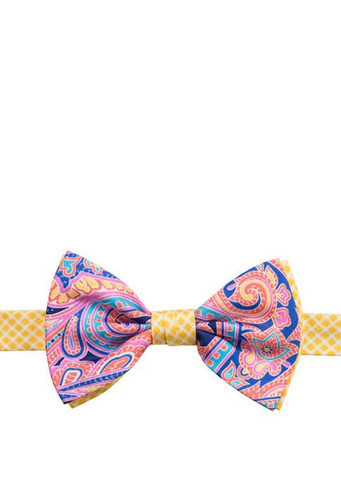 Printed Paisley Bow Tie