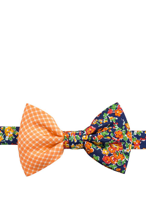 Saddlebred® Floral and Gingham Bow Tie
