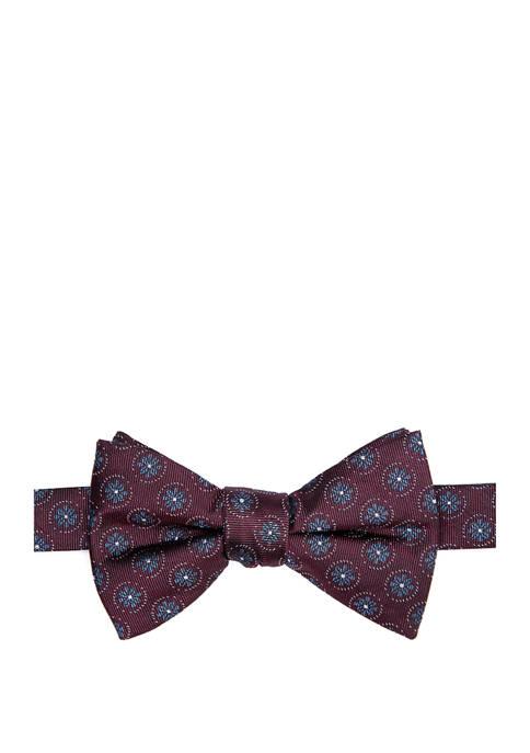 Ourson Medallion Print Bow Tie