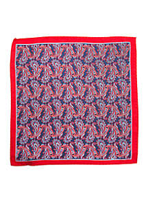 Quebec Border Paisley Pocket Square
