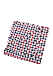 Nuri Plaid Print Pocket Square