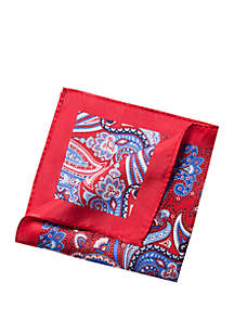 Niels Paisley Print Pocket Square