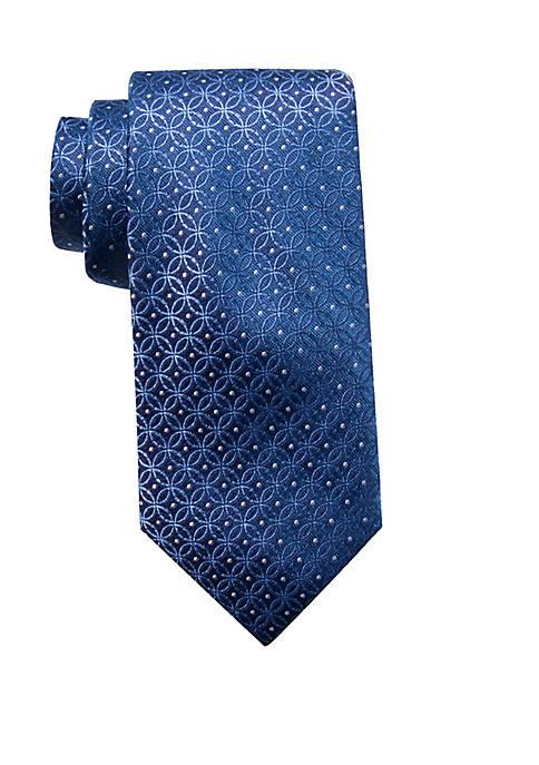 Wyn Medallion Print Neck Tie