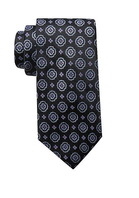 Saddlebred® Medallion Print Neck Tie