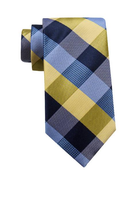 Saddlebred® Mens Flint Check Necktie